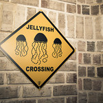 Jellyfish Crossing Sign