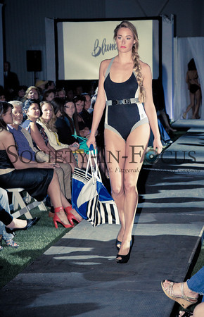 Runway Model in Bathing Suit with Belt