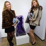 Yuliya Wiker, Dana Van Pamlen wearing Tsontos Furs