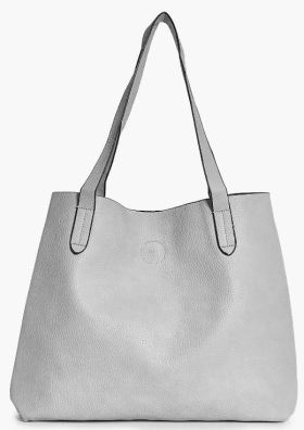 This leather monogram tote is so cute!