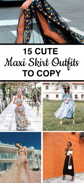 15 Cute Maxi Skirt Outfits To Copy