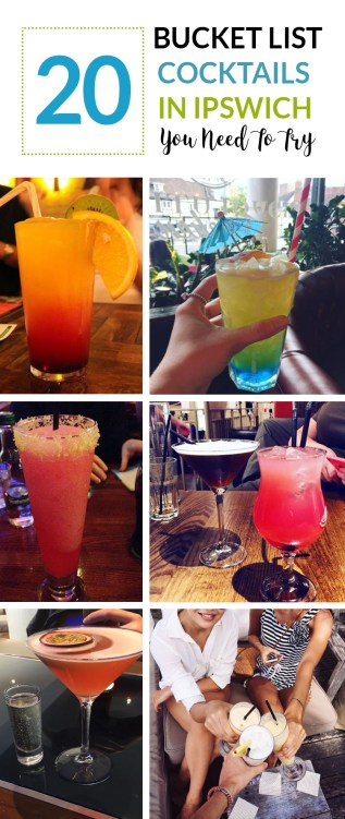 20 Bucket List Cocktails in Ipswish You Need To Try