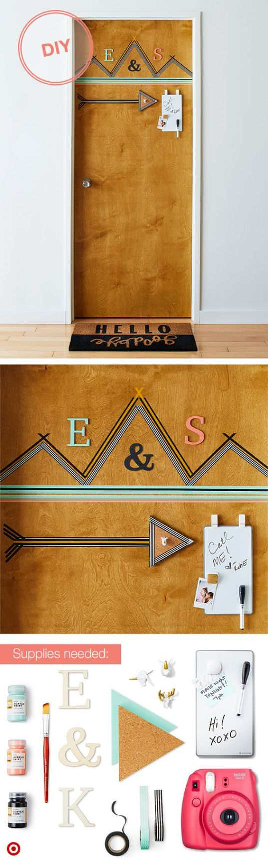 Door decor is an amazing Uni room decoration idea!