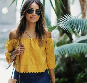 Are you in search of sexy off the shoulder tops for the upcoming season? From patterns, neutrals, brights and classics, you'll love these inspiring off the shoulder looks!