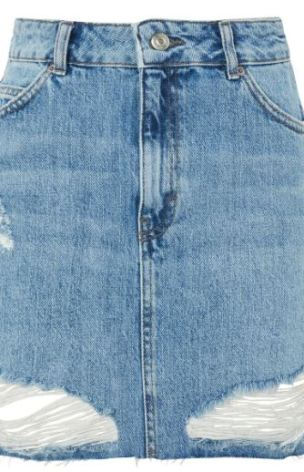 Take a look at these cute jean skirt outfits!