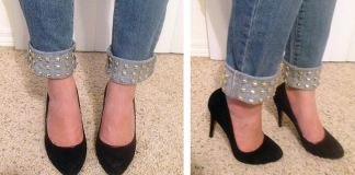 Have you been wondering where everyone is getting their distressed & studded jeans from? Use this step by step guide to create your own pair!