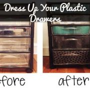 A set of clear plastic drawers is something almost every college student has in their dorm. Why not learn how to dress them up?
