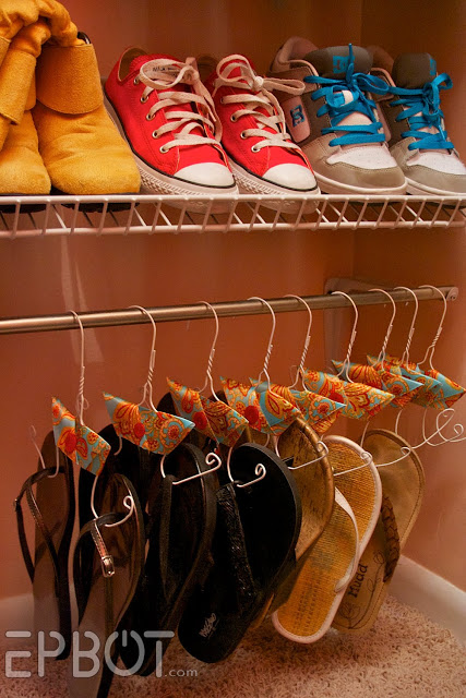 DIY: Turn Wire Hangers Into Shoe Hangers