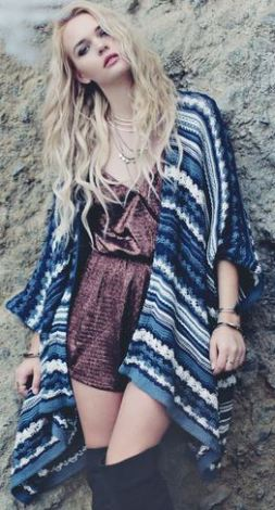 boho threadsence nordic oversized cardigan