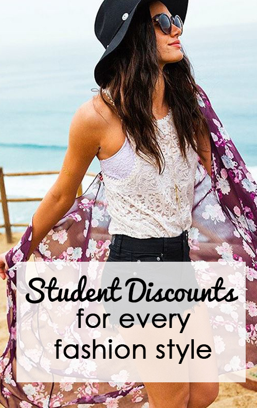 Get a secret student discount on all of your favorite styles!