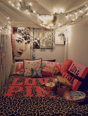 How to brighten a drab dorm room PINK