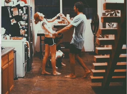 taking a dance class is a cute date night idea!