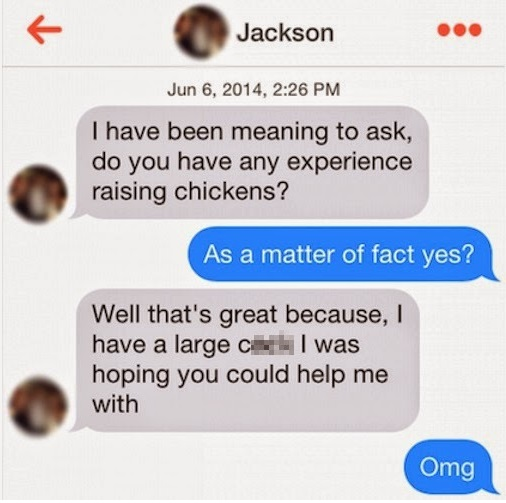 Funny Tinder Messages - Chickens