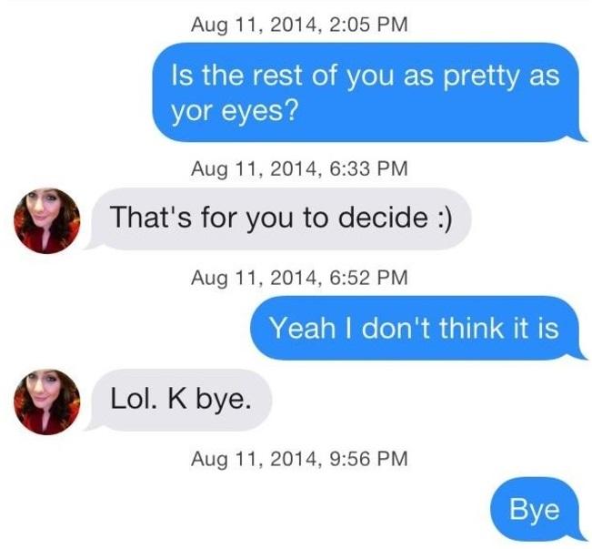 Funny Tinder Messages - Eyes