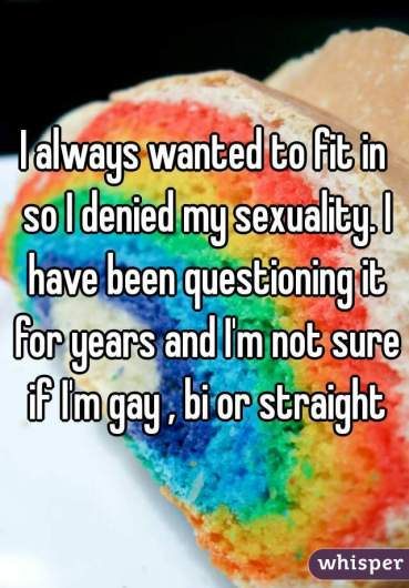 Not being ashamed of experimenting with sexuality - You are not alone