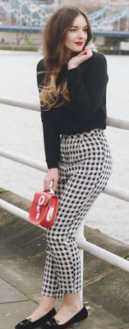 Summer Fahion - Gingham pants