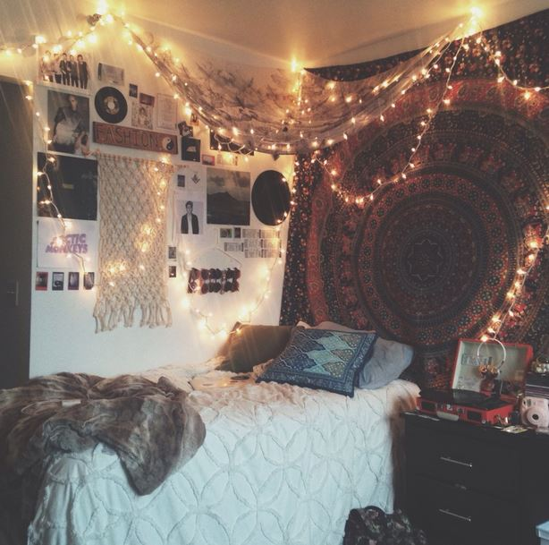 This boho chic dorm room is so cute! & Dorm Room Decorating Ideas BY STYLE - Society19