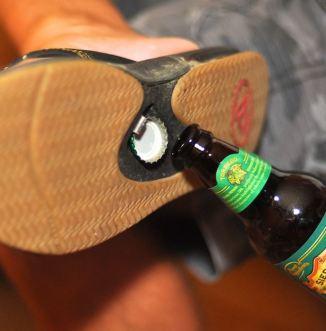 Bottle opener flips flops