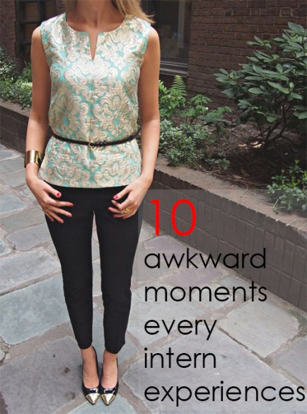 10 Awkward Moments Every Intern Experiences