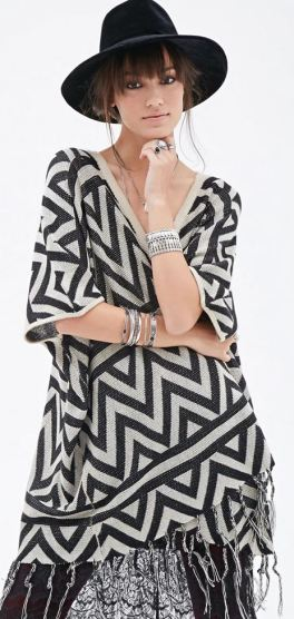 f21 chevron patterned barwing cardigan