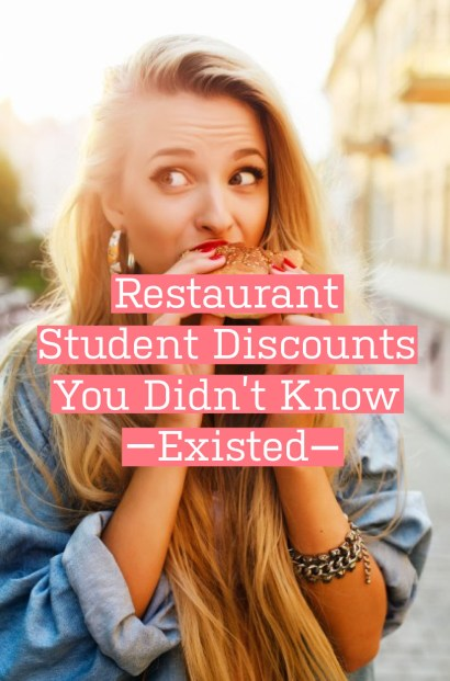 student discounts, Restaurant Student Discounts You Didn't Know Existed