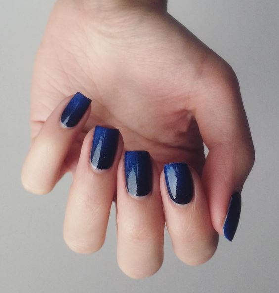 Blue is a bold statement for Fall.