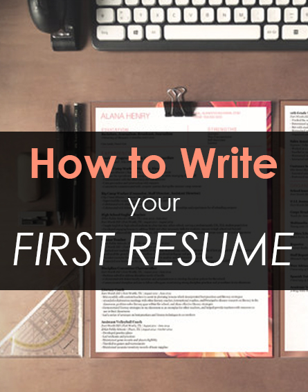 Tips for writing your very first resume!