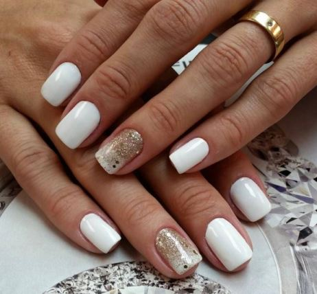 White is a great shade that you can use all year long on your nails.