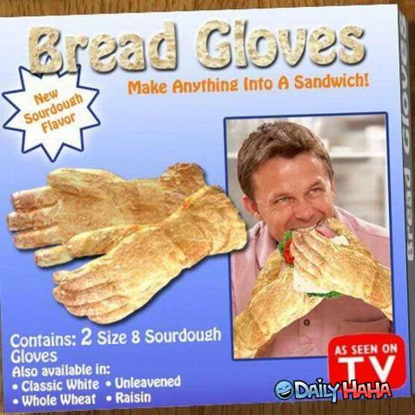 ridiculous bread gloves