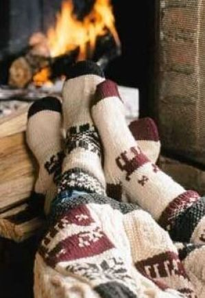The cozy warm socks are so cute!