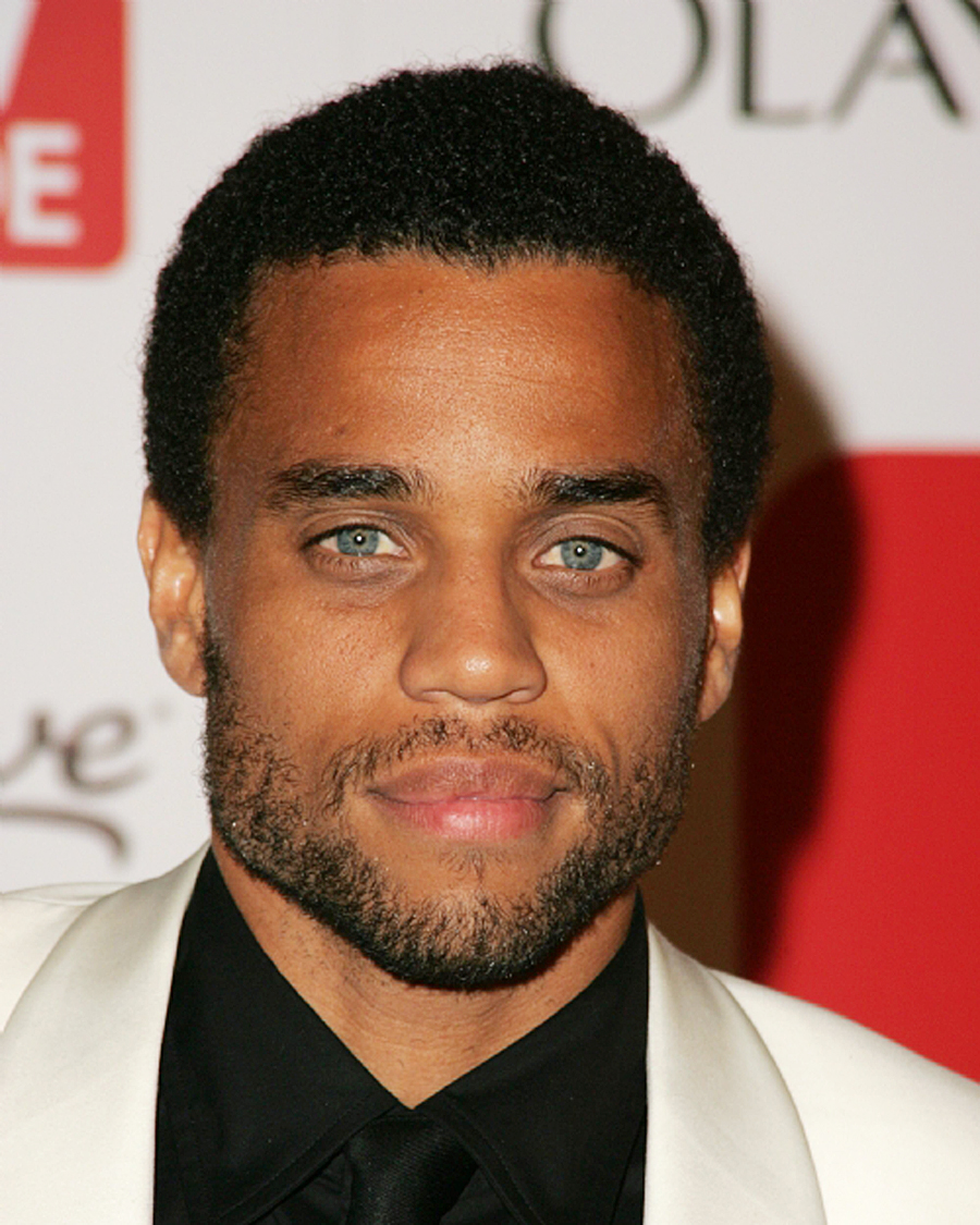 Michael Ealy looks better with a mustache