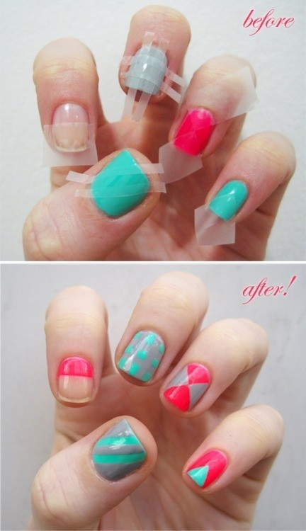 use tape for your nails
