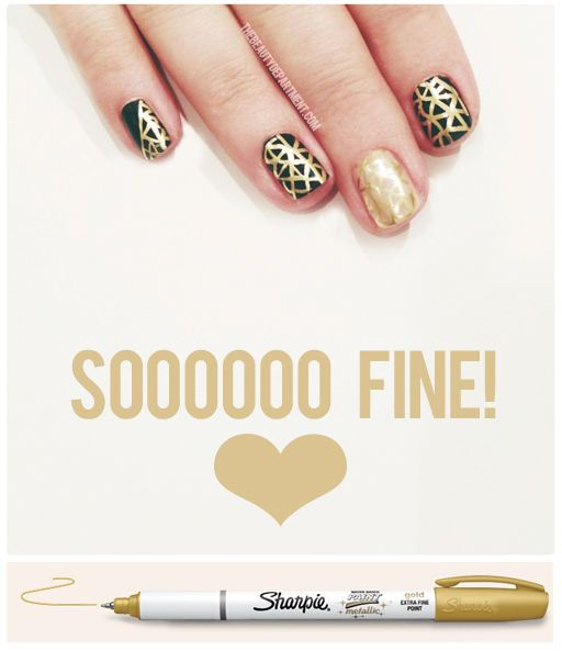 use sharpie on your nails