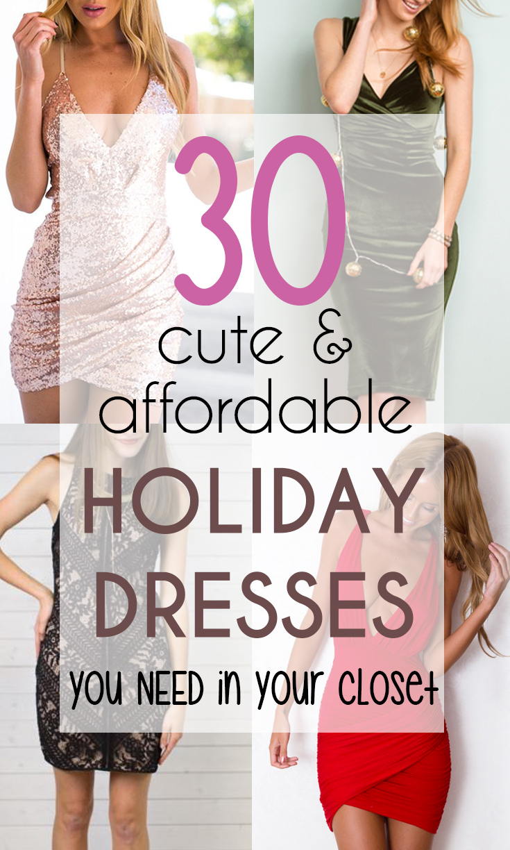 30 Affordable Holiday Dresses You Need in Your Closet