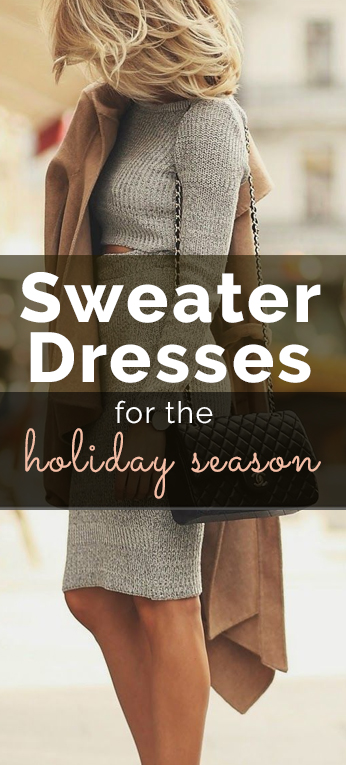 sweater dresses, 10 Sweater Dresses for the Holiday Season