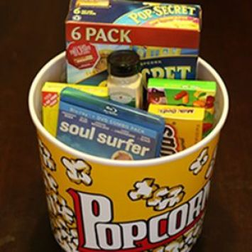 This movie night in a box is a great idea for parents!