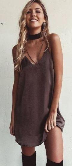 I love this slip dress!