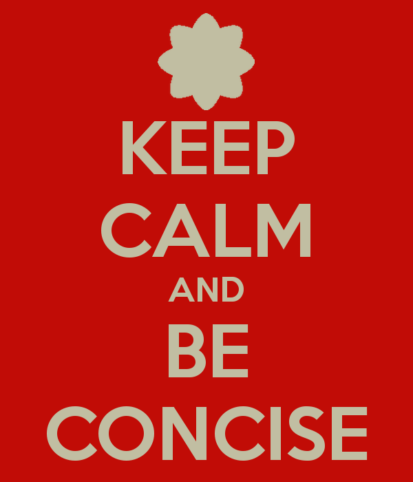 Be concise during an interview