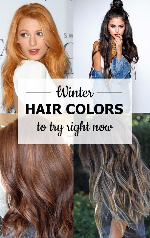 These winter hair colors are so cute!