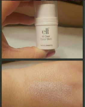 The e.l.f. all over color sticks are great makeup dupers for highlighter