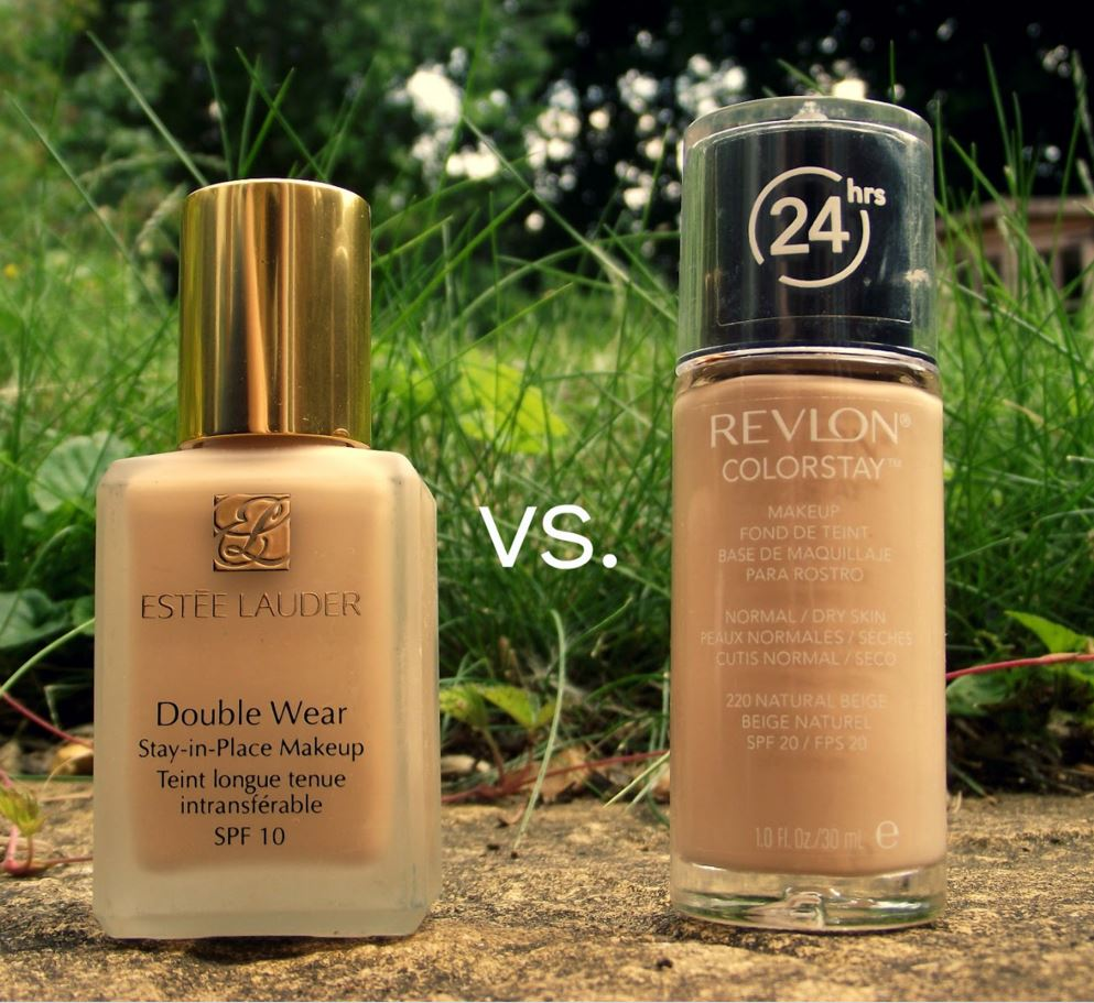 The Revlon Colorstay foundations are great makeup dupes for the Estee Lauder Double Wear foundations!