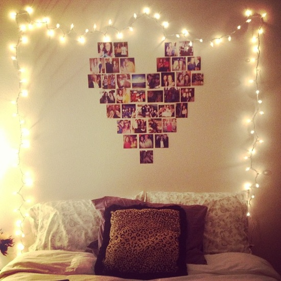 get christmas light and put in you dorm