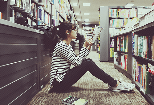 Studying in the library is the best place!