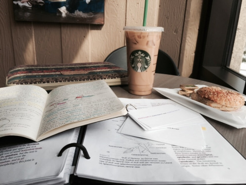 Get coffee and study in a coffee shop