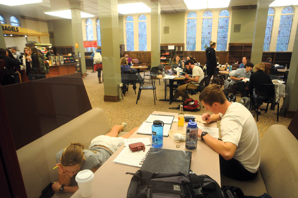 Student centers are a common place to study and hangout