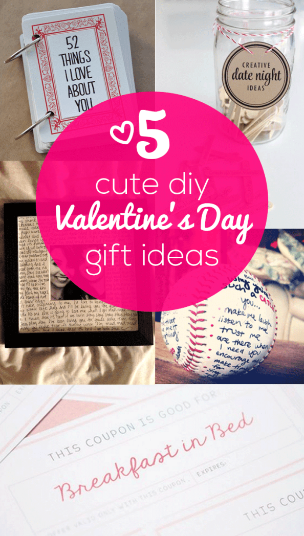 These are such cute DIY Valentine's Day gift ideas for your boyfriend or girlfriend!