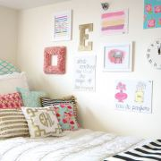 These are easy dorm DIY ideas that will instantly transform and brighten up your dorm room at college, and they are so easy to do!