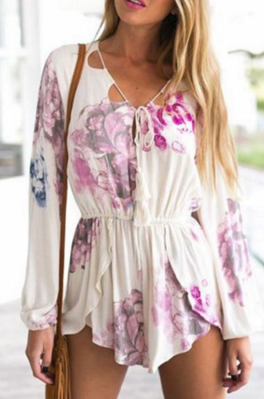 Floral Rompers are perfect Easter outfit ideas!