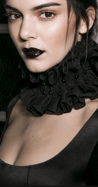 Kendall Jenner dark lip look