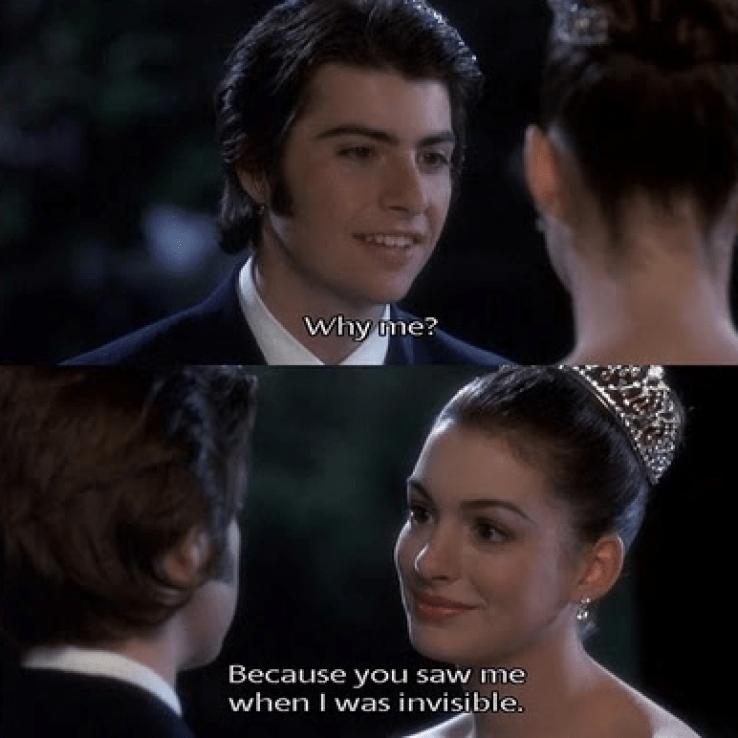 cute Princess Diaries quote